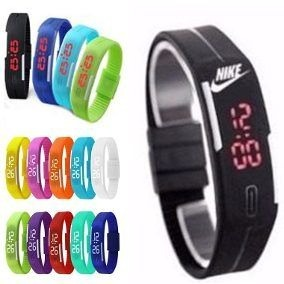50d755097db Relógio Led Nike Digital Sport Silicone Bracelete Pulseira - R  50 ...