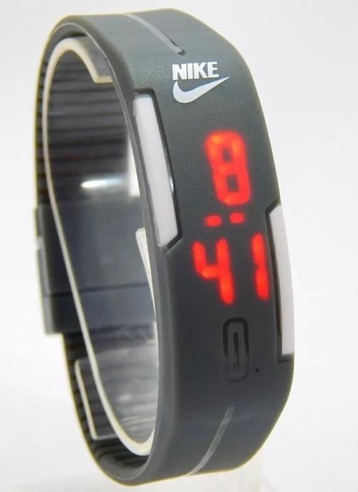 837af687cd0 Relógio Led Nike Digital Sport Silicone Bracelete Pulseira - R  13 ...