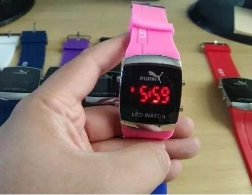 09af75a8973 Relógio Led Pulso Puma Digital Feminino Colorido Menor Preço - R  15 ...
