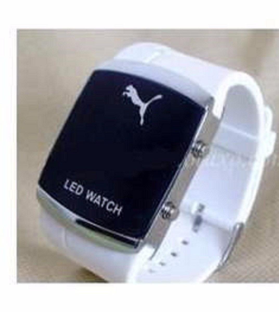 102733b6c13 Relogio Led Pulso Puma Sport Black Watch Led Digital Lindo - R  50 ...