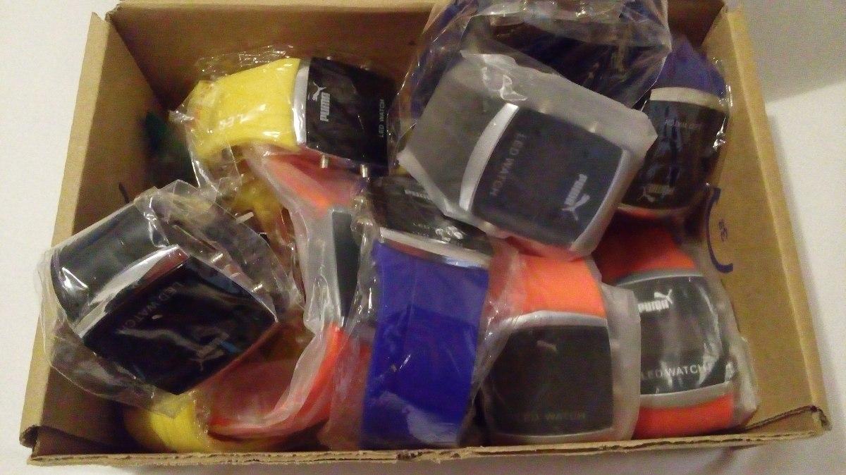 8ee17119af1 relogio led puma pulseira de silicone caixa com 20 unidades. Carregando  zoom.