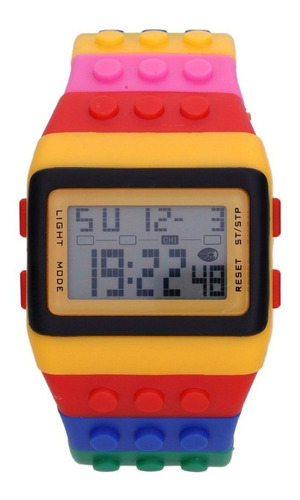 relógio lego de pulso digital regulável