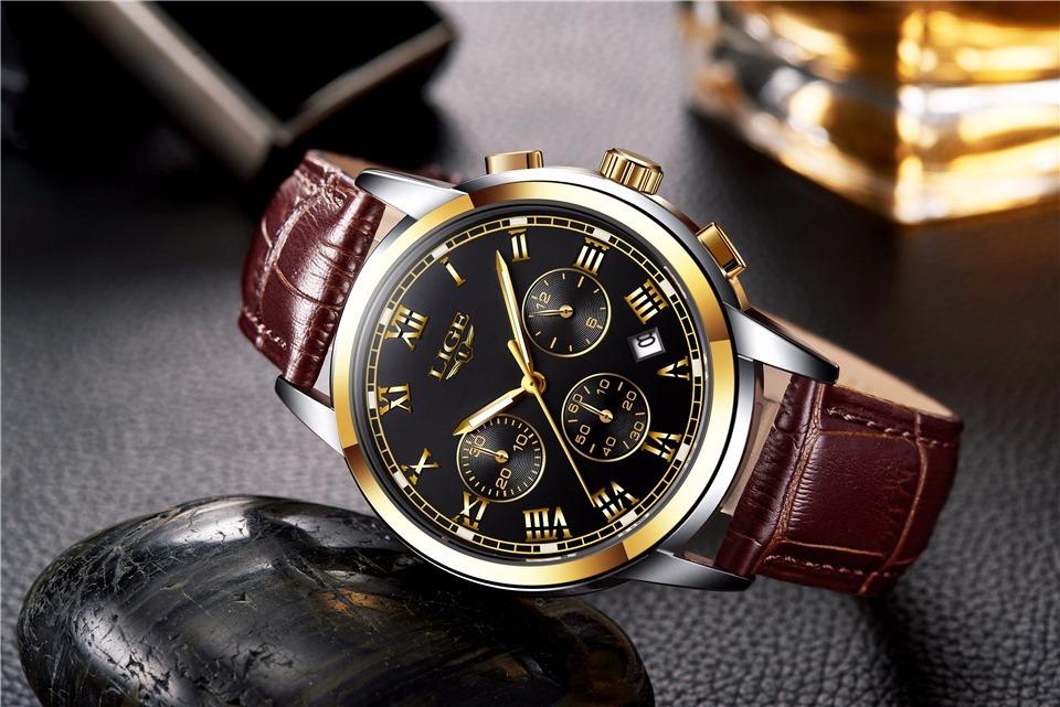 f8a03c0af81 relógio liger de luxo original na caixa barato + brinde. Carregando zoom.