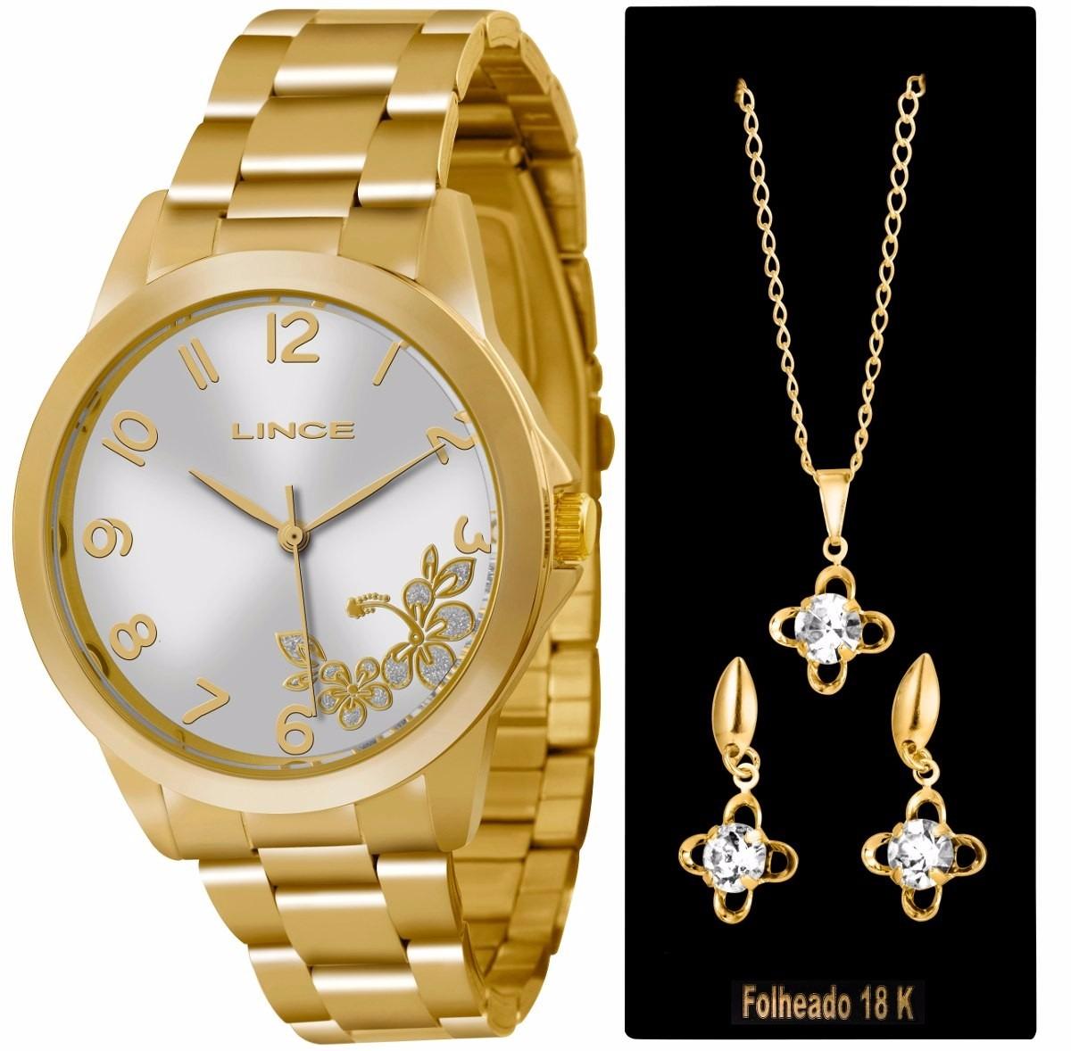 1eede4dffc4 relógio lince dourado feminino(orient) lrgj041l prova dágua . Carregando  zoom.