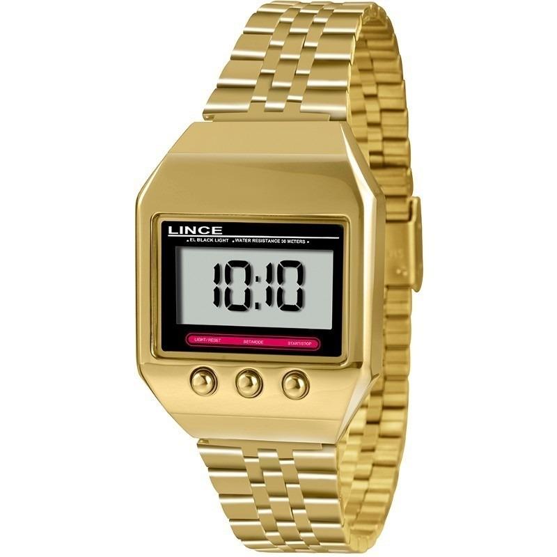 4738b34bf64 relógio lince dourado quadrado retrô digital frete grátis. Carregando zoom.