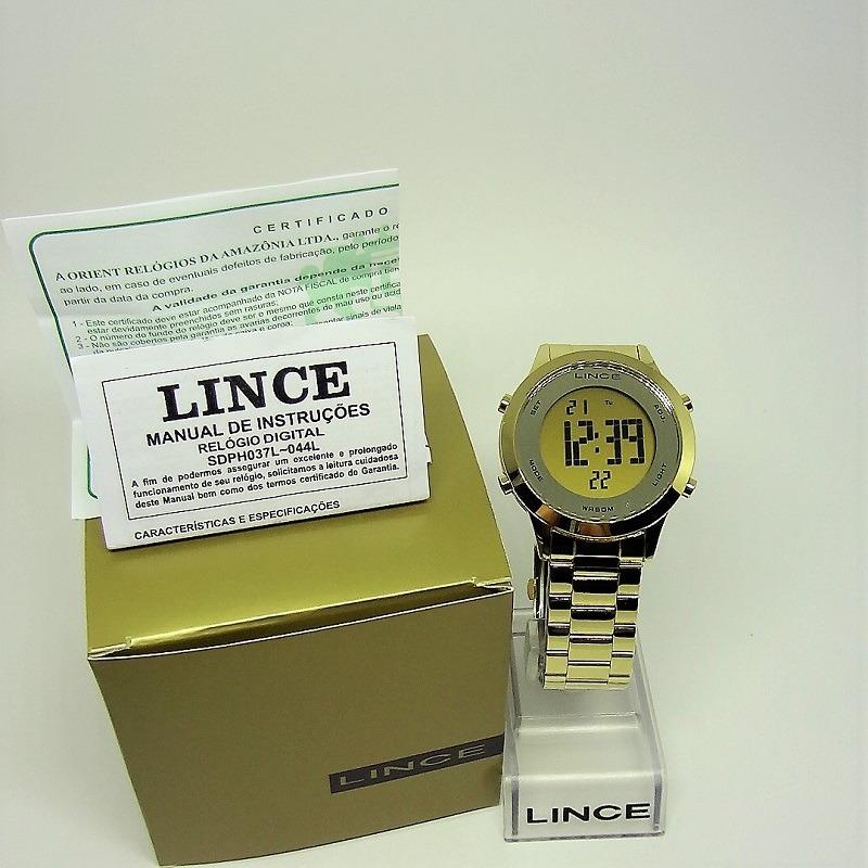 348057c3bef relógio lince dourado sdph037l kxkx c  nf-e. Carregando zoom.
