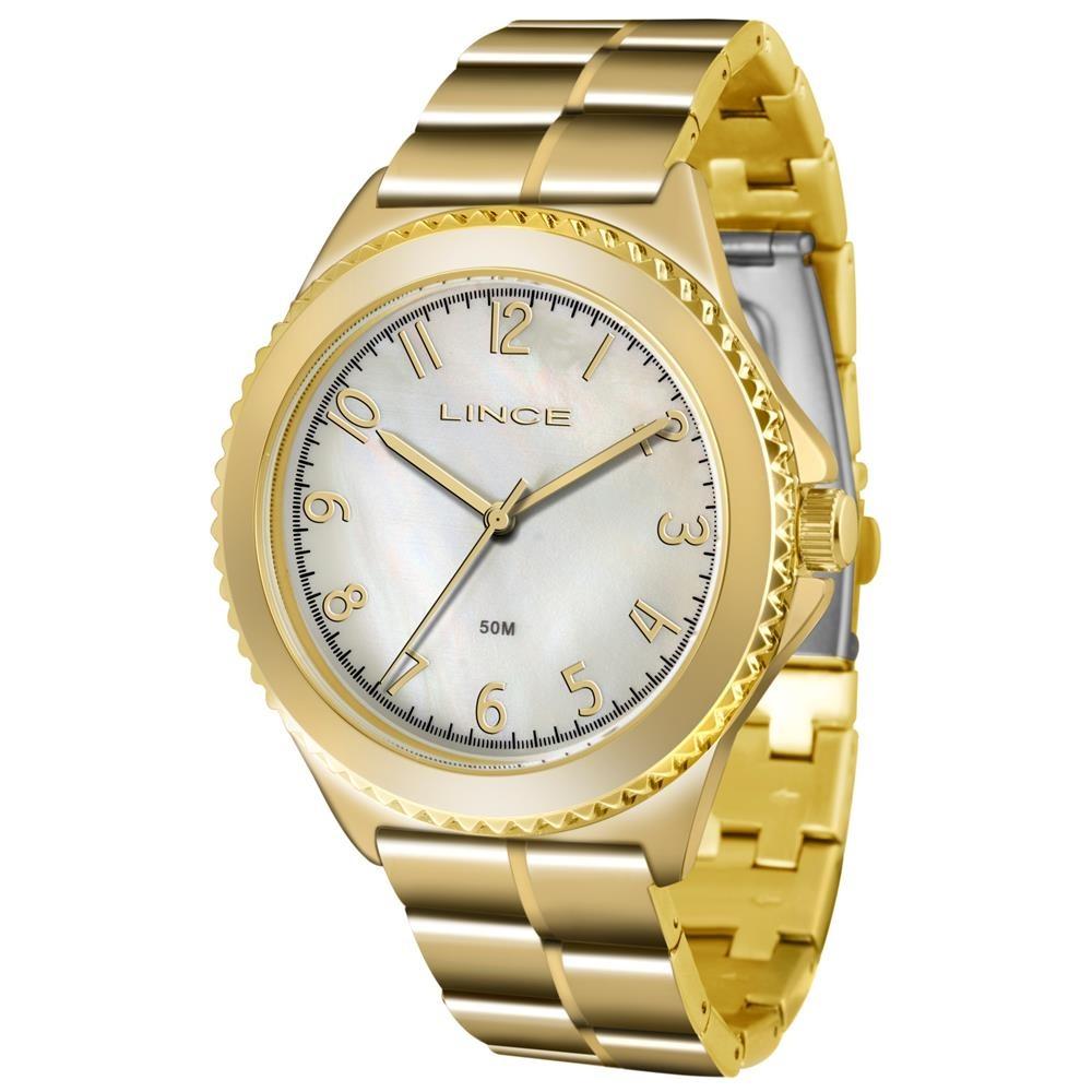 1a21f0b31d5 Relógio Lince Feminino Ref  Lrg4429l B2kx Casual Dourado - R  189
