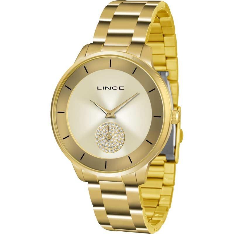 fd0a086baa4 Características. Marca Lince  Modelo Lrgh067lc1kx  Gênero Feminino   Material da correia do relógio ...