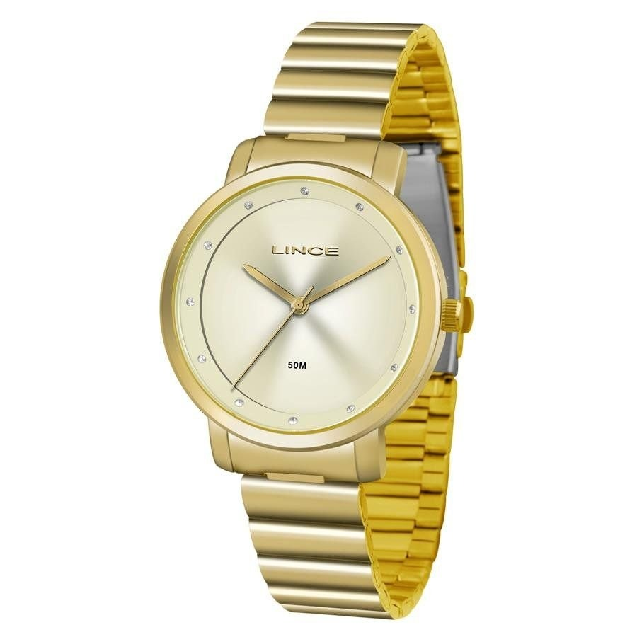 b3ce595b6c4 Relógio Lince Feminino Ref  Lrg4483l C1kx Casual Dourado - R  189