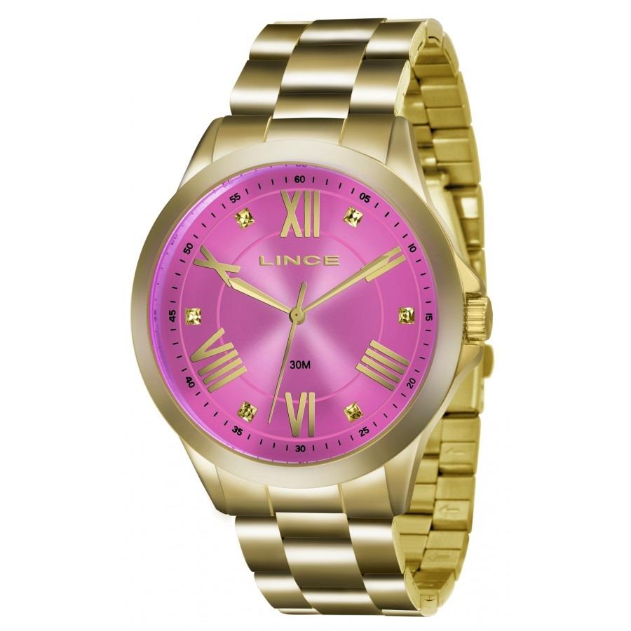 7da37ba769f relógio lince feminino dourado fundo rosa lrgj046l r3kx. Carregando zoom.