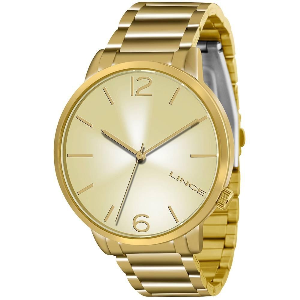 c93fa06457c Relógio Lince Feminino Dourado Lrgj043l Original E Novo Nfe - R  178 ...