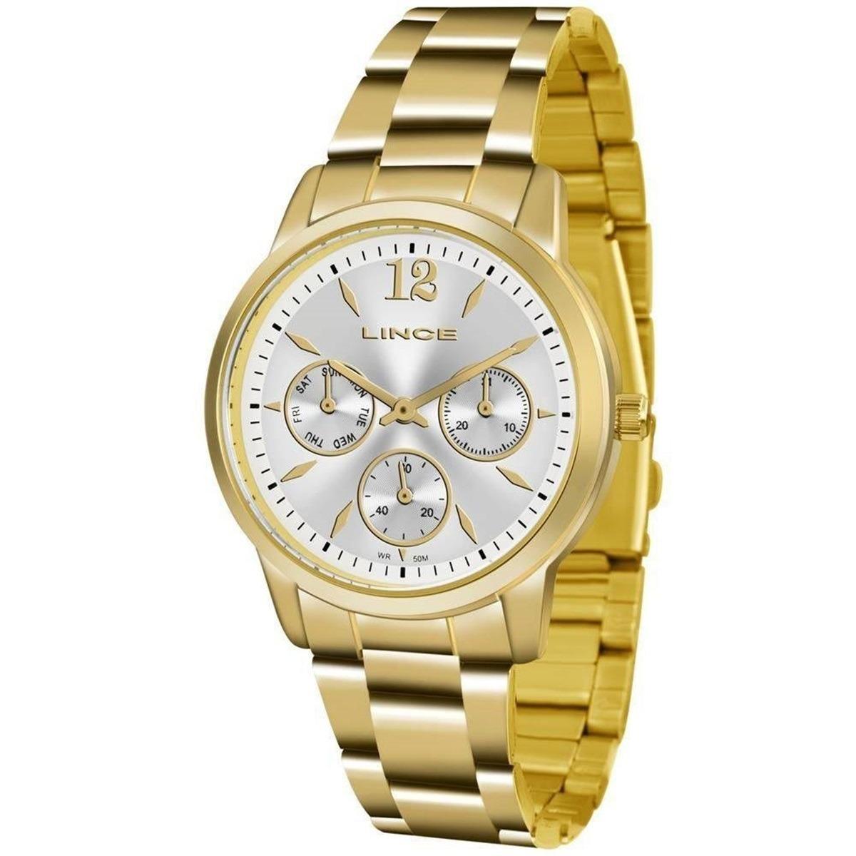 24c97e1013f relógio lince feminino dourado social barato 50 m lmgj069l. Carregando zoom.