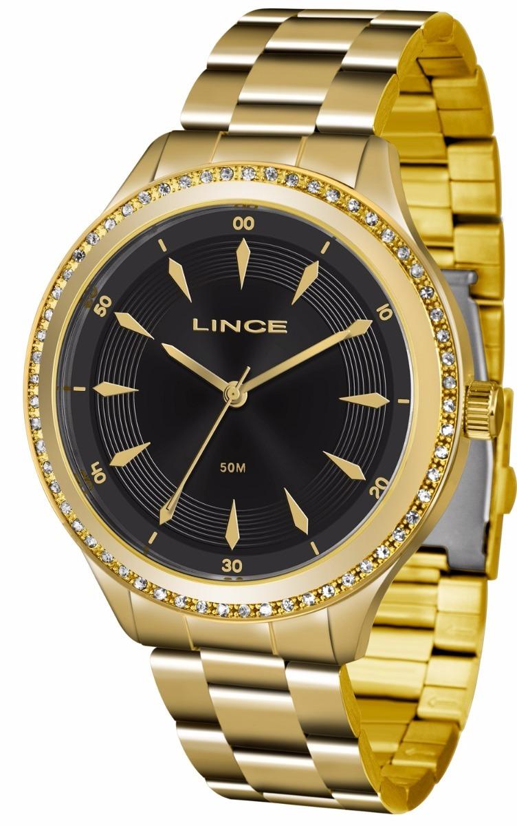2931e064652 relogio lince feminino lrg4427l p1kx dourado preto oferta. Carregando zoom.