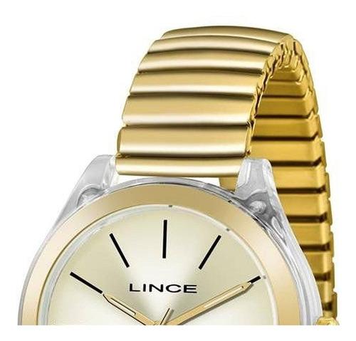relogio lince feminino lrg4484p c1kx dourado + garantia + nota fiscal