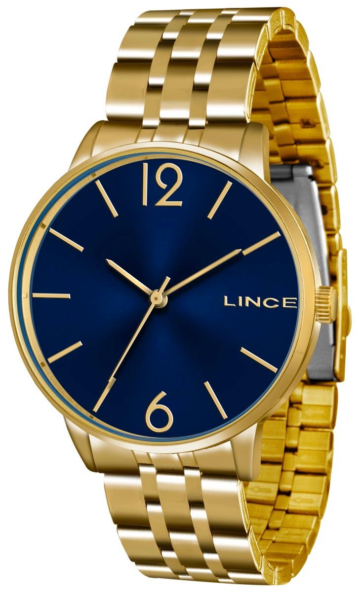 9aafc9028e2 relogio lince feminino lrg605l d2kx dourado azul analogico. Carregando zoom.