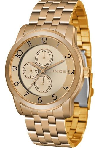 relógio lince feminino original garantia nota lmr4589lr2rx