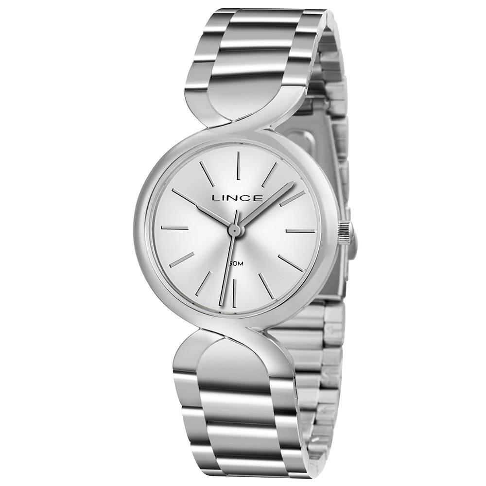 4c2f18e89a2 relógio lince feminino pequeno prata visor prata lrmh048l. Carregando zoom.