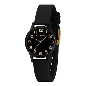 Relógio Lince Feminino Preto 1 Ano De Garantia Original