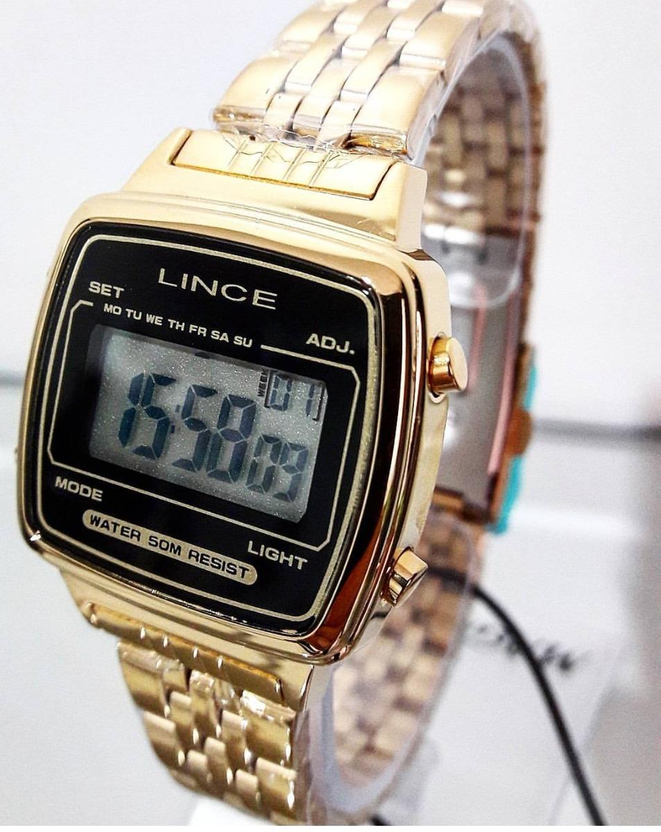 fb6967e0cd7 relógio lince feminino quadrado digital vintage sdph040l. Carregando zoom.
