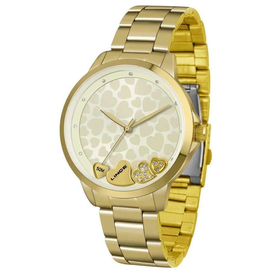 4a0afaba0e0 Relógio Lince Feminino Ref  Lrg4571l C1kx Casual Dourado - R  199