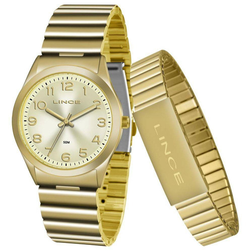 relógio lince lrg4455l kt81c2kx kit com pulseira - refinado