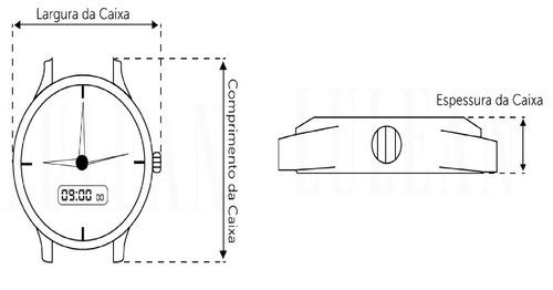relógio lince  lrg4512l b1kx dourado original