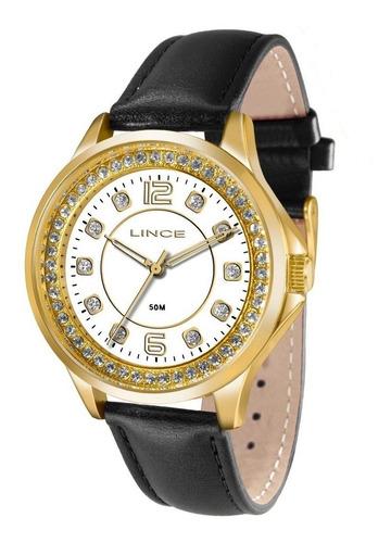 relógio lince madre pérola stras lrc4398l frete grátis