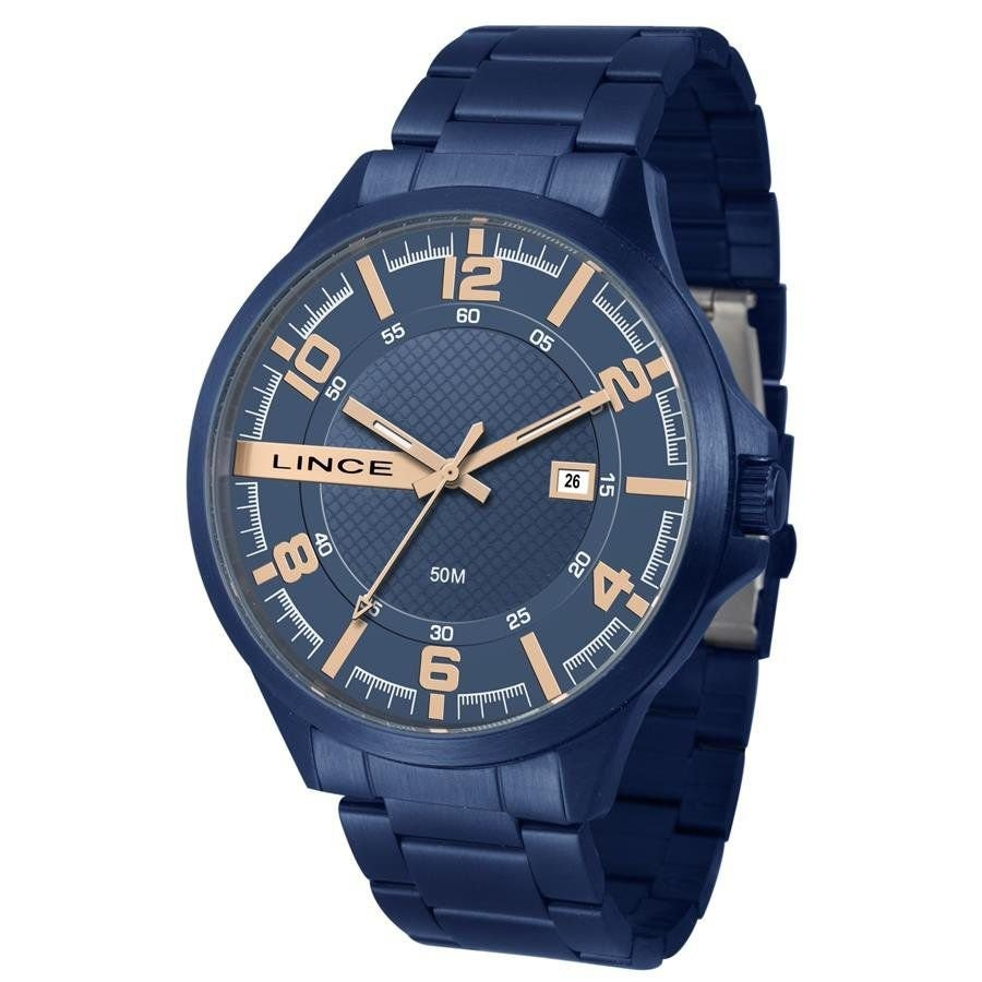 2524821bb6d Relógio Lince Masculino Ref  Mra4271s D2dx Casual Azul - R  259