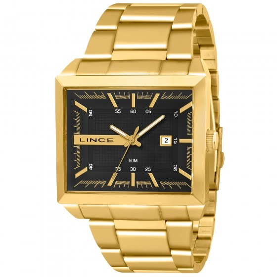 53f8edfbcac Relógio Lince Mqg4267s P1kx Masculino Preto Dourad- Refinado - R ...