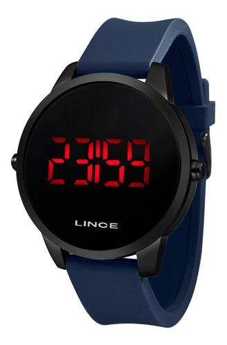 relogio lince masculino digital mdp4595l pxdx preto azul