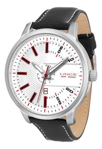 relógio lince mrch019s bvpx redondo couro branco - refinado