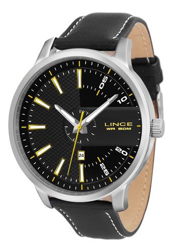 relógio lince mrch019s pypx redondo couro preto - refinado