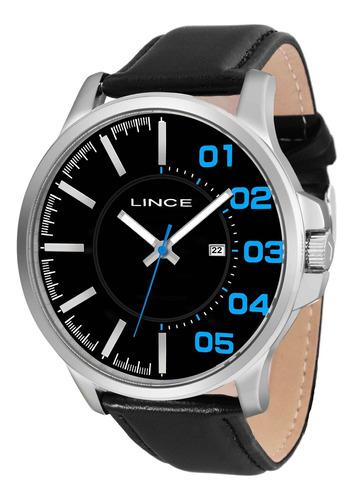 relógio lince mrch020s pdpx redondo couro preto - refinado