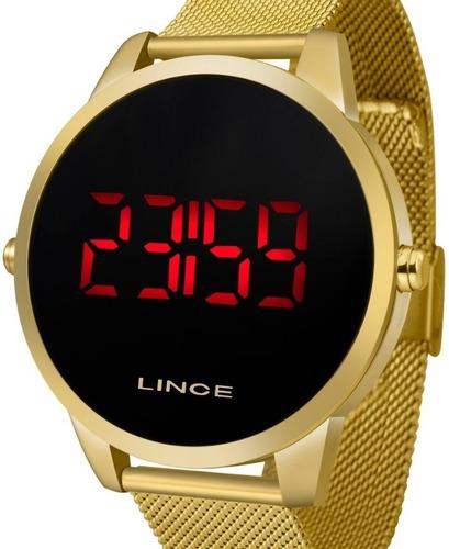 relógio lince unissex dourado digital -  mdg4586l pxkx