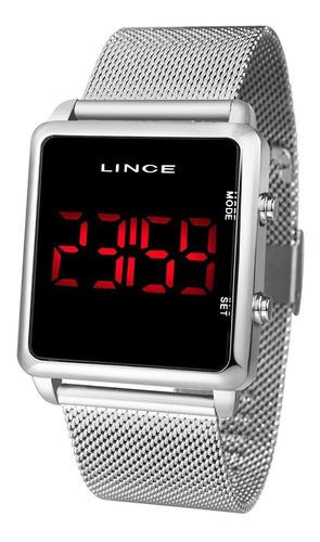 relogio lince unissex mdm4596l pxsx digital prata quadrado