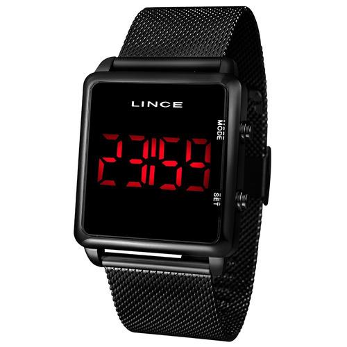 relogio lince unissex mdn4596l pxpx digital black quadrado