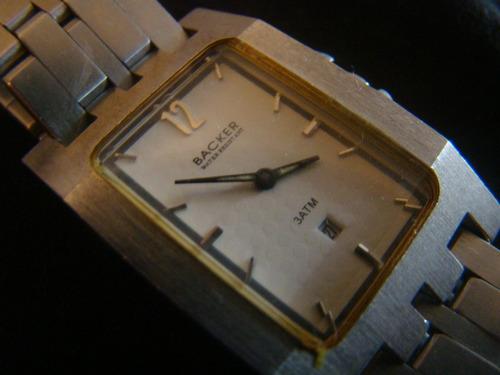 relógio lindo da marca backer modelo inusitado
