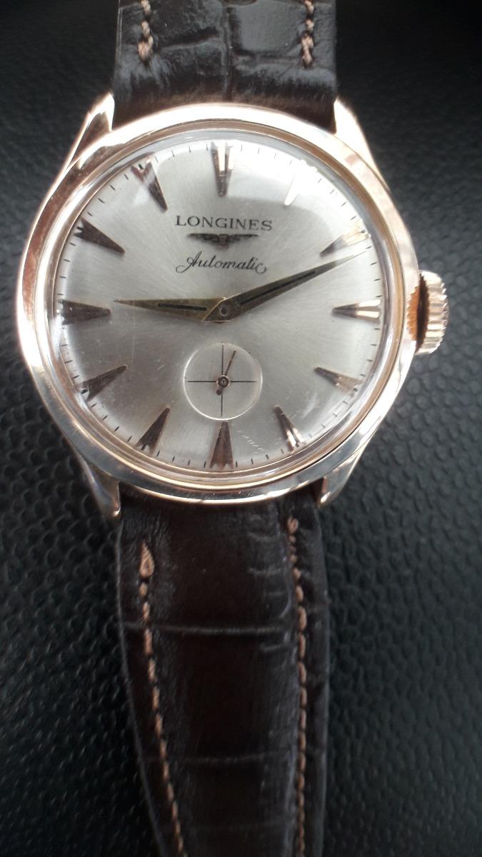 f332b375ef6 Relógio Longines Automático Caixa Ouro 750 Maciço - R  2.000