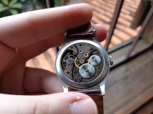 relógio longines calatrava aço à corda manual antigo raro