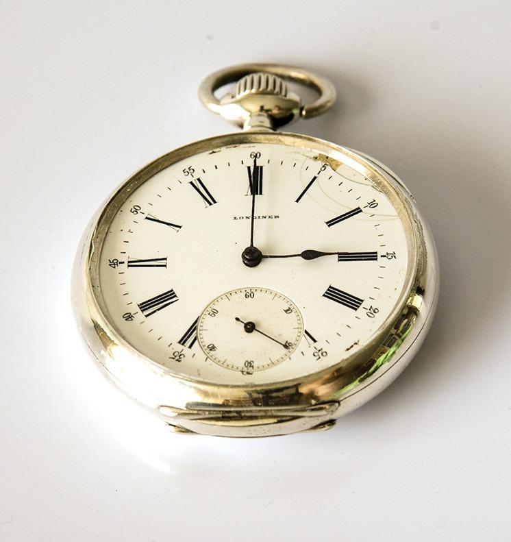 6c4cd8bbdb1 Relógio Longines Grand Prix Paris 1889 De Prata. - R  2.800