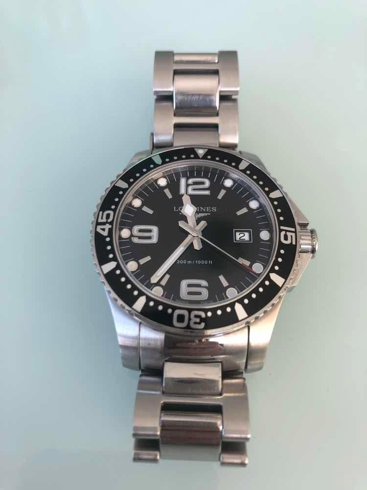 709d4c65be0 relógio longines hydroconquest black. Carregando zoom.