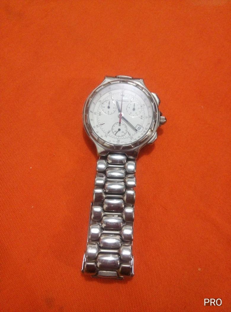 a7721a608b9 relógio longines swiss pulseira inox caixa ouro branco inox. Carregando  zoom.