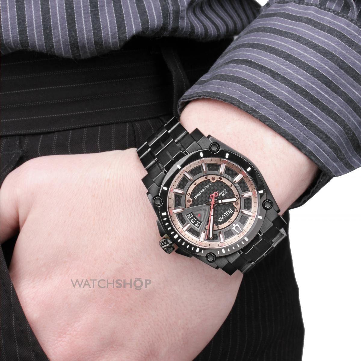 caf0b1b5f40 relógio luxo bulova precisionist champlain 98b143 orig anal! Carregando  zoom.
