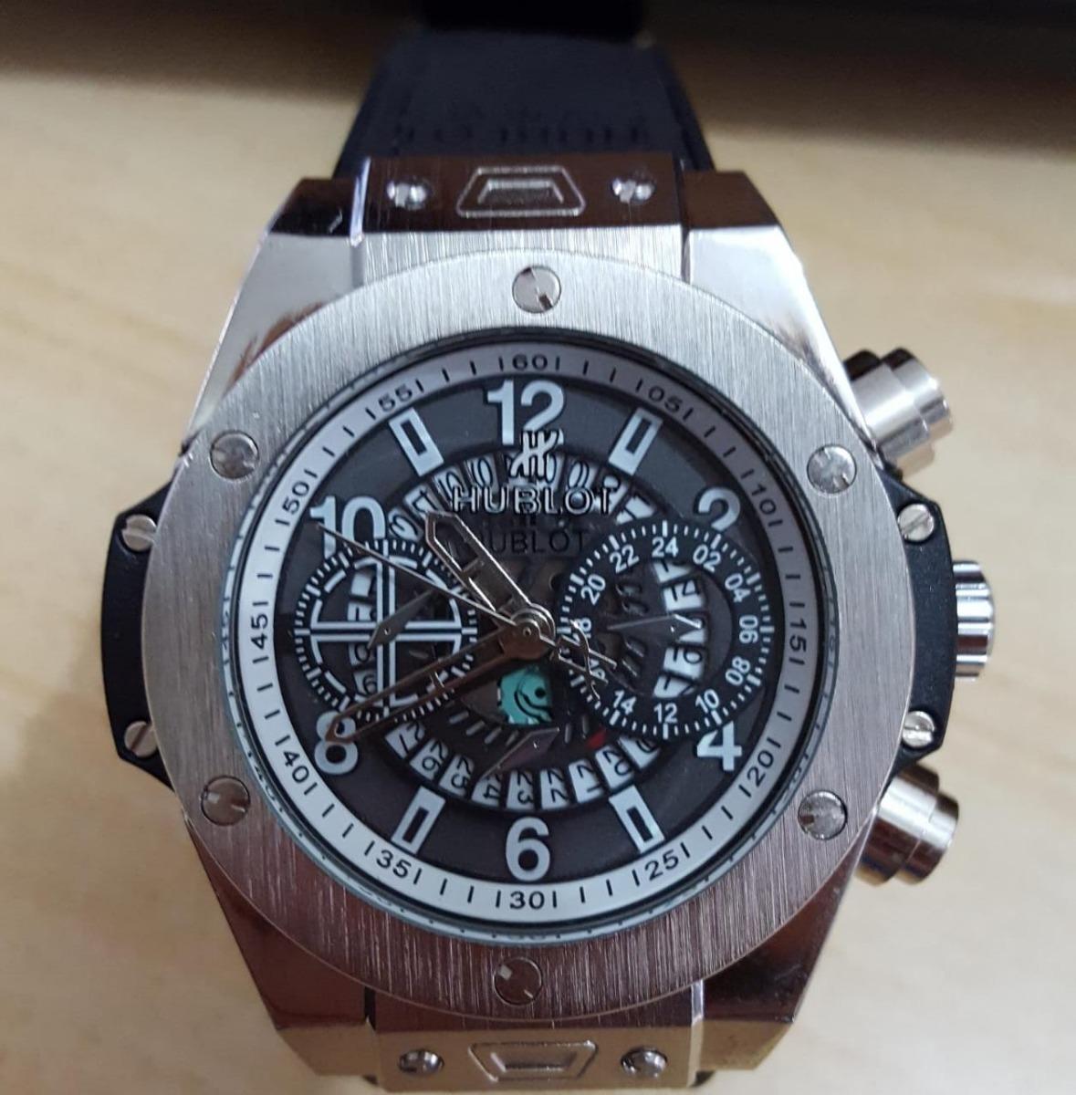 812b11b52ff Relógio Luxo Caixa Aço Data Funcional - Pesado - R  200