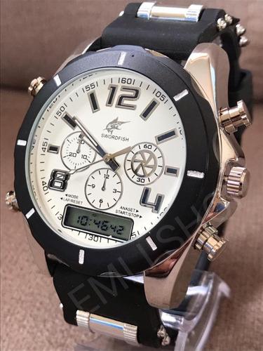 relógio luxo dourado militar potenzia barato promoção + cx!