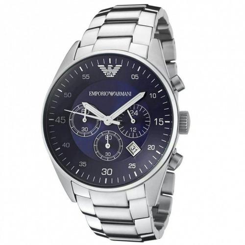 relógio luxo emporio armani ar5860 aço azul novo ref670