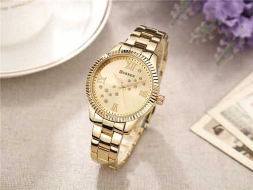 relógio luxo feminino curren cristal belíssimo frete grátis
