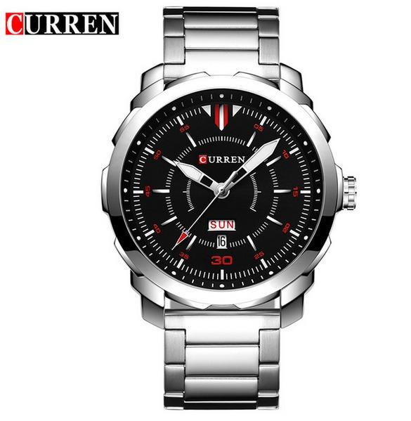 1c53ab40061 Relógio Luxo Masculino Curren Cromado Original Black Watch - R  129 ...
