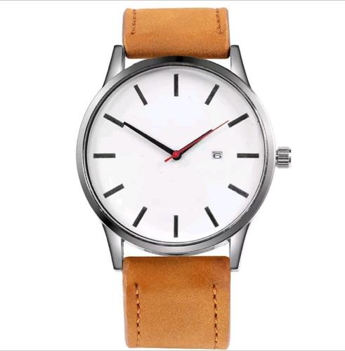 relógio luxo masculino pulseira couro barato promoção