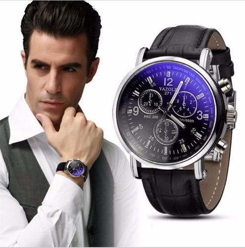 relógio luxo masculino yazole pulso social pulseira couro